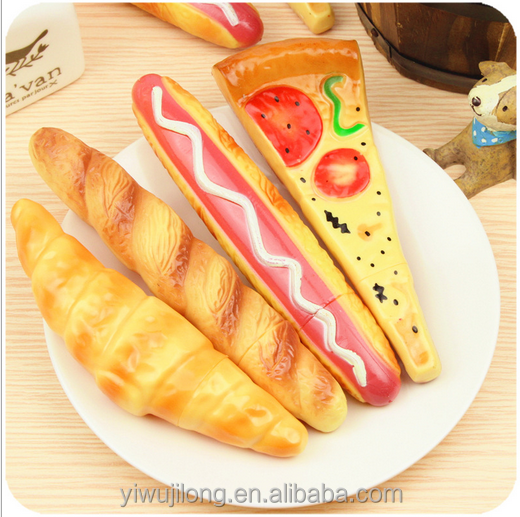 2015 China wholesale different food bread hot dog design plastic ballpoint pen for promotion