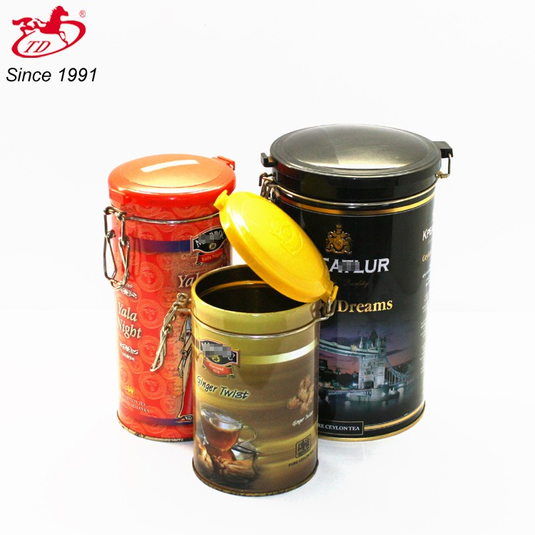 decorative coffee tin can / coffee tin cans for packaging Skype:tengdadina