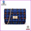 Winter styles woolen cloth shoulder bag for young ladies