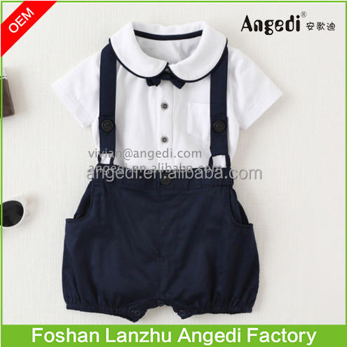 Toddler Boys outfits baby 2 pc set short sleeve Tees with suspender short