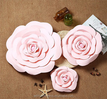 Wholesale high quality artificial paper rose flower for wedding backdrop