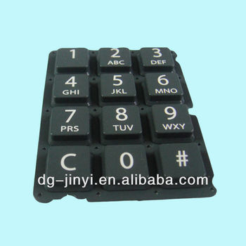 OEM high quality silicone spray coating keypad with customize design