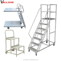 warehouse steel portable stairs