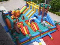2015 New finished Giant Inflatable Jurassic Park Playground