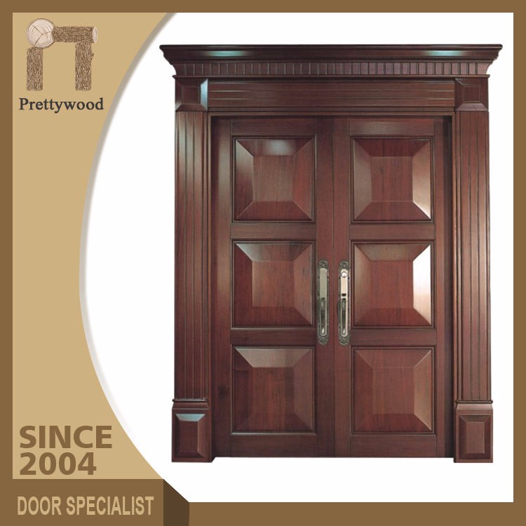 China Manufacturer Oak Solid Wooden Villa Main Door Models