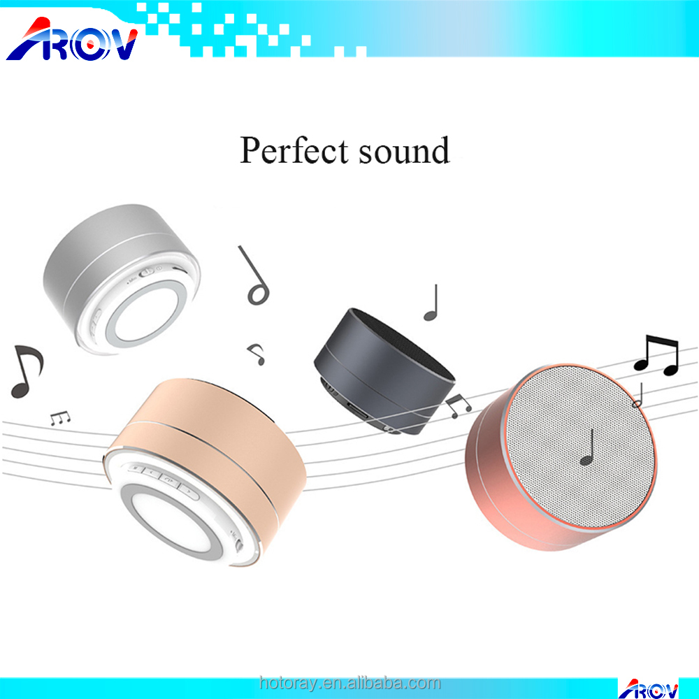 2017 TF USB FM Wireless Portable Music Sound Box Subwoofer Loudspeakers LED MINI Blue tooth Speaker A10