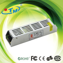 Constant Voltage led 12v 6a switching power supply IP 20 12V 80W 6A strip series With CE,FCC,Rohs