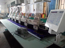 6 heads flat embroidery machine in china