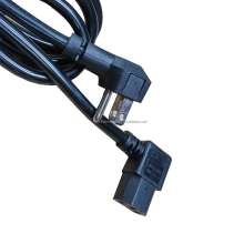 NEMA 5-15P UL approval right angle power cord with US plug