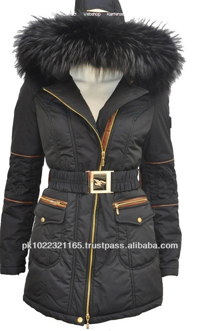 2014 top quality wind proof womens parka winter jacket with fur hood