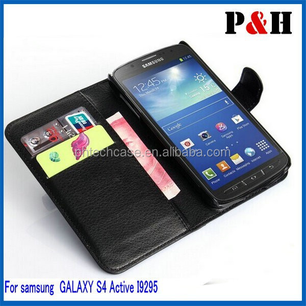 Leather case for samsung galaxy S4 Active I9295