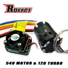 Rocket Racing 540 8350kv Sensored Brushless Motor + 120A Turbo ESC + LCD Program Card Combo for 1/10 Scale Competition RC Car