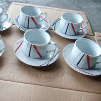 20140815 AB Grade Quality 30% OFF White Porcelain Tea Cups Saucers