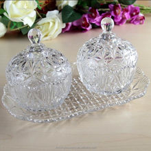 Clear Crystal Glass Candy Jar From China Factory
