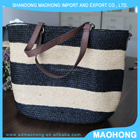 2016 beautiful ladies handbags raffia straw beach bag