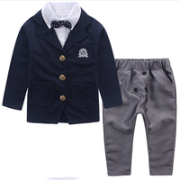 W91497A 2015 autumn new design children suit kids suit sets boys wear formal dress suit sets