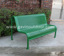 Outdoor metal bench for public parks
