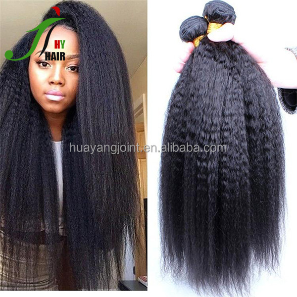 Raw Unprocessed Virgin Peruvian Hair Weave Bundles Italian Yaki Hair 10