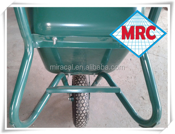 Green wheel barrow machine WB3800 wheelbarrow accessories