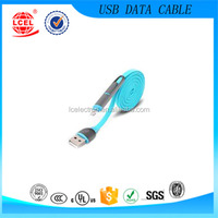 China factory price colorful 2 in 1 noodles and dustproof micro usb charging data cable
