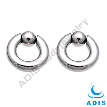 Ball Closure Ring,giant gauge captive ring piercings spring ball