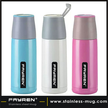 Stainless steel insulated thermos vacuum bottle/travel mug