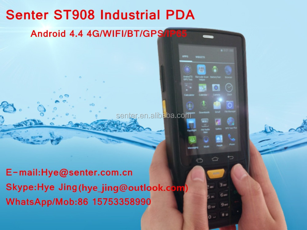 ST907 V7.0 4 inch Rugged Data collector scanner 1D/2D Barcode Scanner GSM phone call function