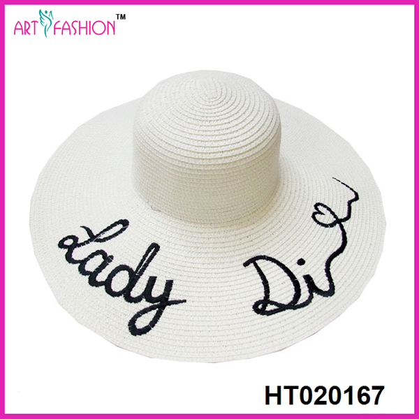 summer women large cheap wholesale beach embroidery farmers straw hats
