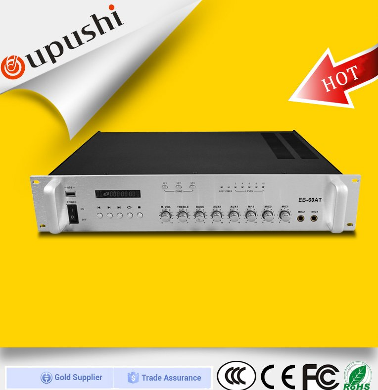 Oupushi pa amplifier 2.0 channel amplifier 60w fm tuner with USB