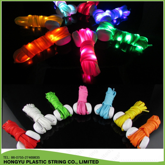 Factory price led shoe lace flashing luminous LED shoelaces