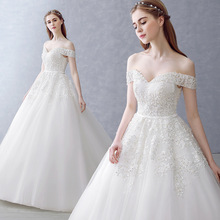 LY01 Latest Style High Quality Heavy Beaded Ball Gown Wedding Dress