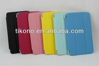 Electric pressure pu leather case with 3 fold for samsung p3200