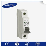 RT006-1 Indoor MCB Miniature Circuit Breaker 1/2/3/4 pole low voltage 2 amp circuit breaker