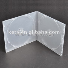 10mm Double Plastic Cover Frosty Clear Short PP DVD CD Case