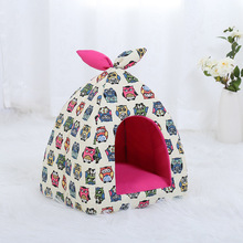 New Design Printed Canvas Pet Tent Playpen Outdoor Indoor For Small Dog Puppy Kennel Tents Cats Nest Toy House