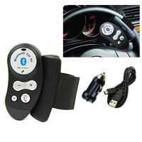 Rechargeable Car Steering Wheel Bluetooth Hands Free Speaker Kit FM12