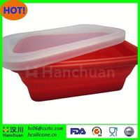 waterproof ,square silicone lunch box