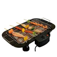 Electric Barbecue Grill Indoor Tabletop With Thermostat And Grill Height Adjustable Electric BBQ Grill
