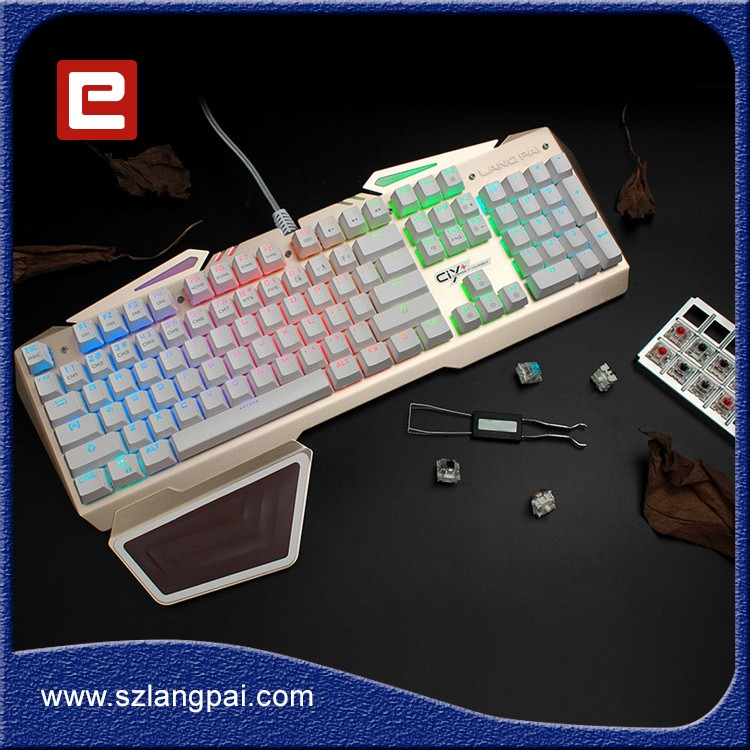 Custom Logo Colorful LED Backlit USB Wired Gaming Keyboard Teclado Gamer