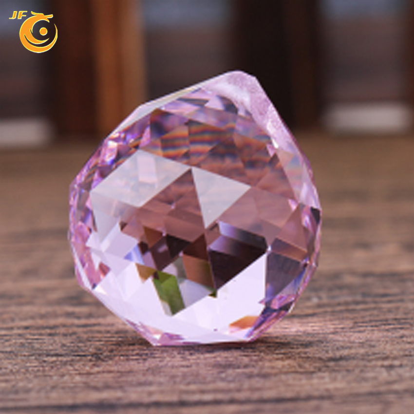 40mm clear pink purple decorative Crystal ball for chandeliers with high quality