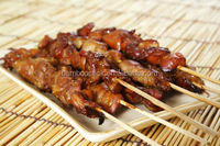 Bamboo round disposable bbq skewer