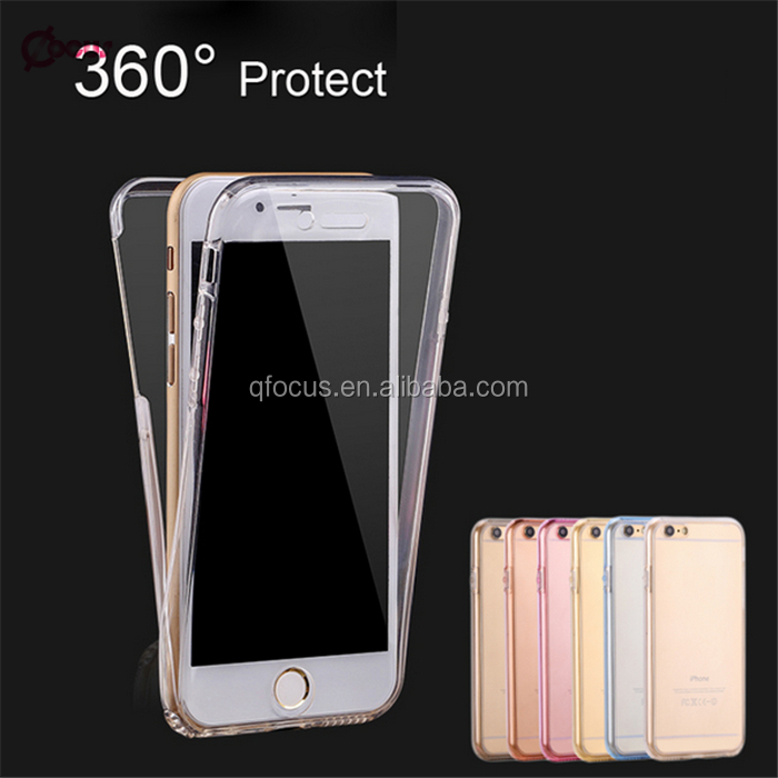 Hot Sale 360 degree case ultra thin tpu case for iphone 6 plus cell phone case for iphone 6