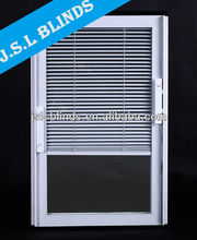 Hot sale sliding glass doors internal blinds Guangzhou factory