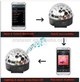 2015 New products MP3 Player Control Blue-tooth 6W LED crystal Music Magic ball light/Led stage light