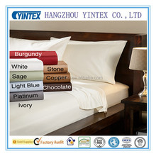 Solid Style Luxury Bamboo Fiber Bed Sheet Sets with Bed Cover Pillowcase