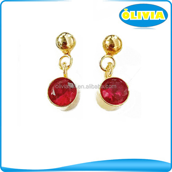 Alibaba Wholesale Custom Long Earrings Wedding Gold Jewelry Hanging Diamond Earrings