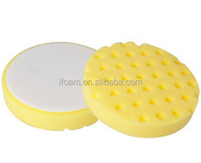 6inch Yellow CCS Grooved Surface Car Polishing Foam Buffing Pad