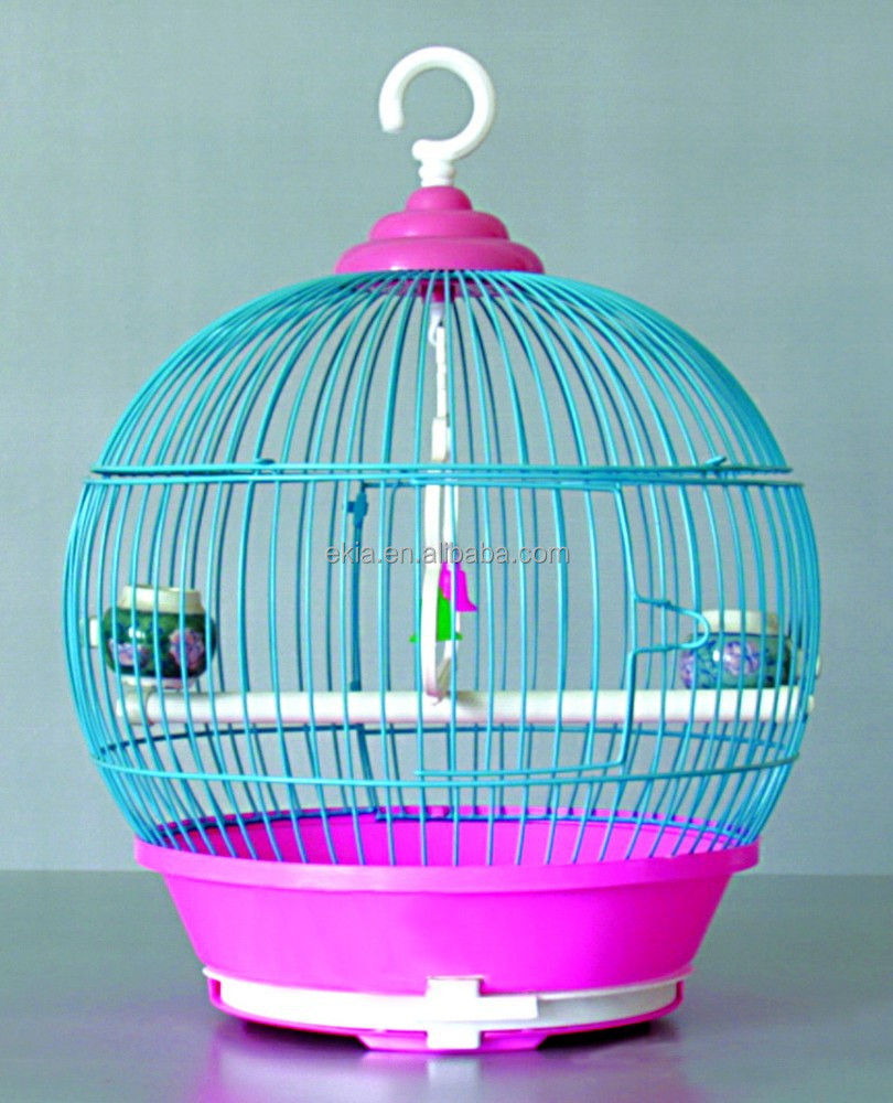 Home Pet Classic Round Bird Cage Red Birdcage Pet Birds Cages Small