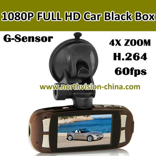 1080p Full HD car dvr video recorder with 120 wide angle lens and PAL/NTSC TV mode