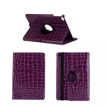 Crocodile Pattern 360 degree rotated PU Leather case for iPad mini4